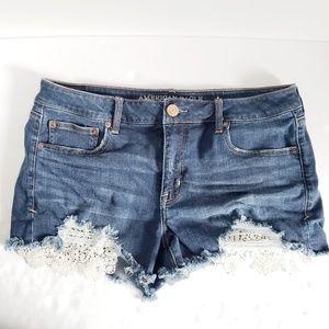 American Eagle Shortie Lace Jean Shorts